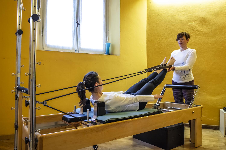 La macchina B.A.Z. nello Studio di posturologia di FisiLabor è l'ideale per il pilates individuale, girotonic e fisiodinamica.