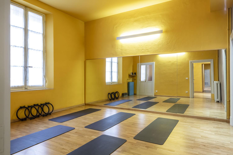 sala per i corsi di Pilates e Yoga della palestra FisiLabor